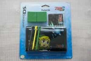 Official Nintendo DS Lite Legend of Zelda Phantom Hourglass Case & Kit New VGC