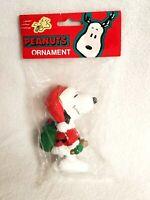 "Snoopy Christmas Ornament Peanuts Gang Kurt Adler Santa Suit Gifts Plastic 3.5"""