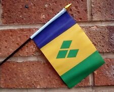 10 X St Vincent & and The Grenadines Flag Pack Small Hand Waving Flags Caribbean