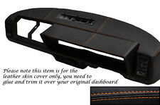 Orange costura se adapta a Fiat X1/9 x19 Dash Dashboard Leather piel cubierta sólo