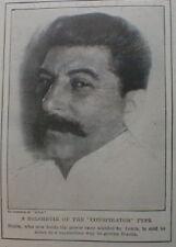 Stalin  New Ruler  Russia 1926 Corsica Bandit Romanetti - Coca Cola