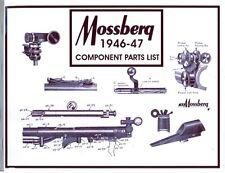 Mossberg 1946 Gun Component Parts Catalog & Gun Chronology