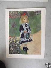 Vintage Renoir Print Girl With a Watering Can LOOK