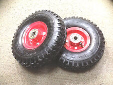 """2 pc  10""""  Hand Trolley Pneumatic Wheel - Heavy Duty Industrial 3.50-4"""