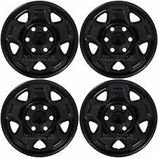 "4 BLACK 2005-2016 Toyota Tacoma 16"" Wheel Skins Hub Caps 6 Lug Steel Rim Covers"