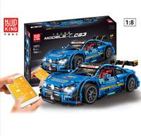 Baukästen Blau Sportwagen Fernbedienun Auto Spielzeug Geschenk Modell Kind