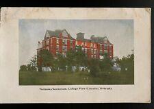 Vintage Postcard Nebraska Sanitarium College View Nebraska Lincoln