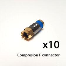 Conector F Compresión Snap-sello impermeable Satélite Cable RG6 WF100 CT x10