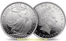 Una onza plata fina .999 1Oz Puro Plata Britannia 2012 moneda Uncirculated (!)