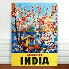 "Stunning Vintage Travel Poster Art ~ CANVAS PRINT 8x10"" India Cachemira"