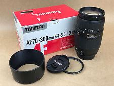 Tamron AF 70-300mm F/4-5.6 LD Macro 572DN Lens w/ hood & Box Nikon-D DSLR SLR