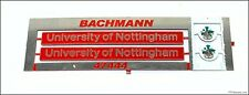 Bachmann class 47 etched nameplates 47444 university of nottingham