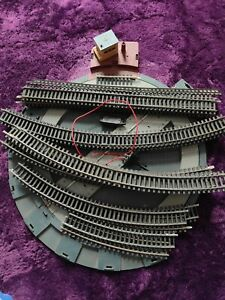 job lot of Hornby Track 00 gauge and turntable
