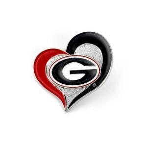 GEORGIA - SCHOOL LOGO - HEART LAPEL/HAT PIN - BRAND NEW - CCP-PN-261-09