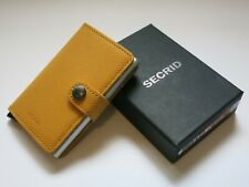 SECRID MINIWALLET Crisple Amber Compact Leather Credit Card Holder Handmade NEW