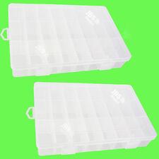 2 Pcs. 24 Compartimentos Cuadro de Clasificación Caja Surtido Transparente