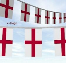 """20 Metres England English St George""""s Day Flags Bunting"""