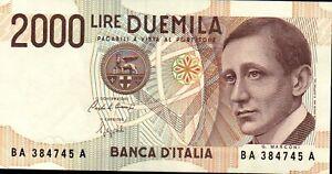 BANCONOTA FDS - 2000 LIRE - Guglielmo Marconi