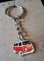 Red Retro VW Camper Van Keychain Keyring Gift Stocking Filler