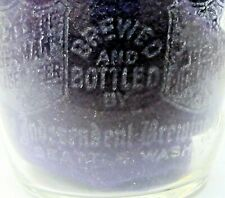 rare Pre-Prohibition INDEPENDENT BREWING Seattle acid etched beer glass