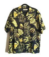 Tommy Bahama Hawaiian Silk Men's Large Short Sleeve Button Up Shirt Excellent!