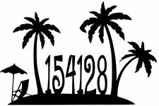 House Number Plaque, Metal Sign, Condo, Address Sign, Beach #1