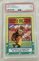 Eric Dickerson 1986 Topps #2 Record Breaker PSA Los Angeles Rams