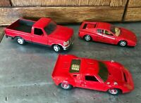 Lot 3 Diecast 1/24 Red Cars Maisto F150 Truck Majorette Ford GT40 Burago Ferrari