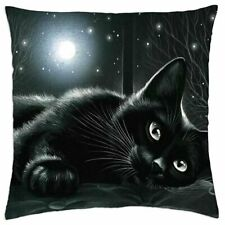AC-67lym-CSB Beautiful Cat /'Love You Mum/' Black Border Satin Feel Cushion Cover