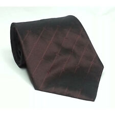 "DKNY Burgundy Silk Dress Men Tie 3.75"" wide 57"" long"