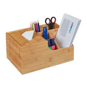 Büro Organizer Bambus Box Tücherbox Tischorganizer Make-up Aufbewahrung Tuchbox