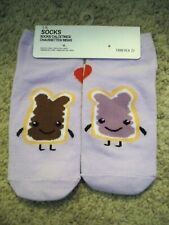 FOREVER 21 LOW SHOW SOCKS PURPLE PEANUT BUTTER  AND JAM NEW
