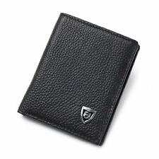 New Leather Mens Wallet Bifold Cowhide Small ID Card Holder Slim Purse