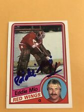 Eddie Mio Signed 84/85 O Pee Chee Detroit Redwings Card # 61