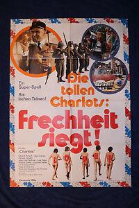 original Kino Plakat - Die tollen Charlots - Frechheit siegt ! 1971 ! Komödie !!