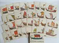 """Vintage postcards depicting ships """"History of the ship"""" Post Card  Poster Old"""