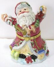 Home For The Holidays Santa Claus Porcelain Hinged Trinket Box May Dept Store