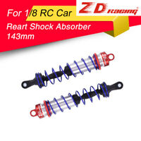 2pc ZD Racing 143mm Rear Shock Absorber Red Damper Suspension for 1/8 HSP RC Car