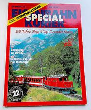 EK SPECIAL 22 - 100 anni Brig-Visp-Zermatt-Bahn, Svizzera, Friburgo 1991