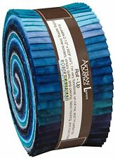 "JELLY ROLL~OPEN WATERS COLORSTORY~40-2.5""STRIPS~KAUFMAN FABRIC Cotton QuiltJR115"