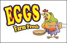 Eggs Farm Fresh Decal (Choose Your Size) Farmers Market Food Truck Sticker