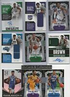 2018-2019 Panini Chronicles Rookie Card LOT Auto/Patch