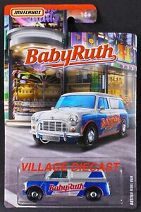 2019 Matchbox Candy Cars 1965 Austin Mini Van SILVER / BABY RUTH / MOC
