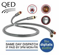 1m QED Performance Audio 40i Stereo RCA 2 Phono TO 2 Phono Jack Cable