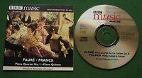 Faure Piano Quartet No 1 / Franck Piano Quintet BBC Music Magazine CD