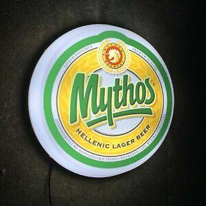 MYTHOS BEER Light up LED bar wall sign logo Pub Lager man cave garage shed home