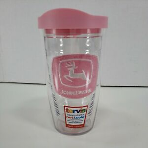 Tervis Tumbler 16 Oz Pink John Deere Farm Girl Insulated Beverage Glass With LID