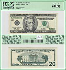 2001 True Binary Fancy $20 San Francisco FRN Bank Note PCGS 64 PPQ Choice Unc CU
