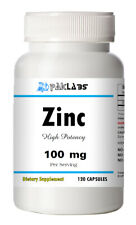 Zinc Citrate 100mg Mineral Supplement Immune Support Capsules 120ct 120 NEW