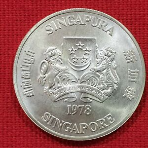 VICUSCOIN - SINGAPORE - SILVER - 10 DOLLARS - YEAR 1978